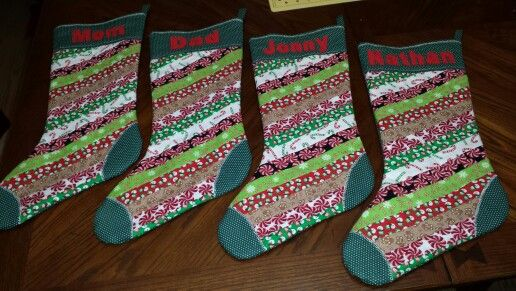 Quilted Christmas Stockings.