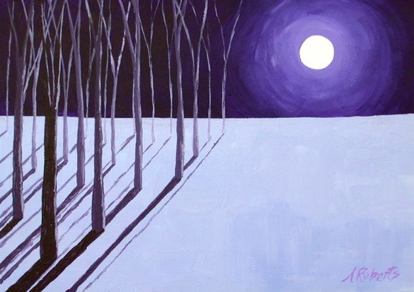 Original art for sale at gallree.com - Affordable Art Under $100.00 - Tree Walk by Anna L Roberts - $91.00 | Acrylic Paintings