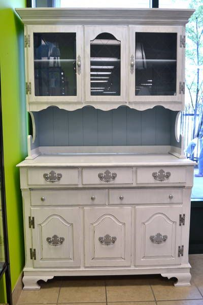 Solid Maple Footed China Hutch By Roxton