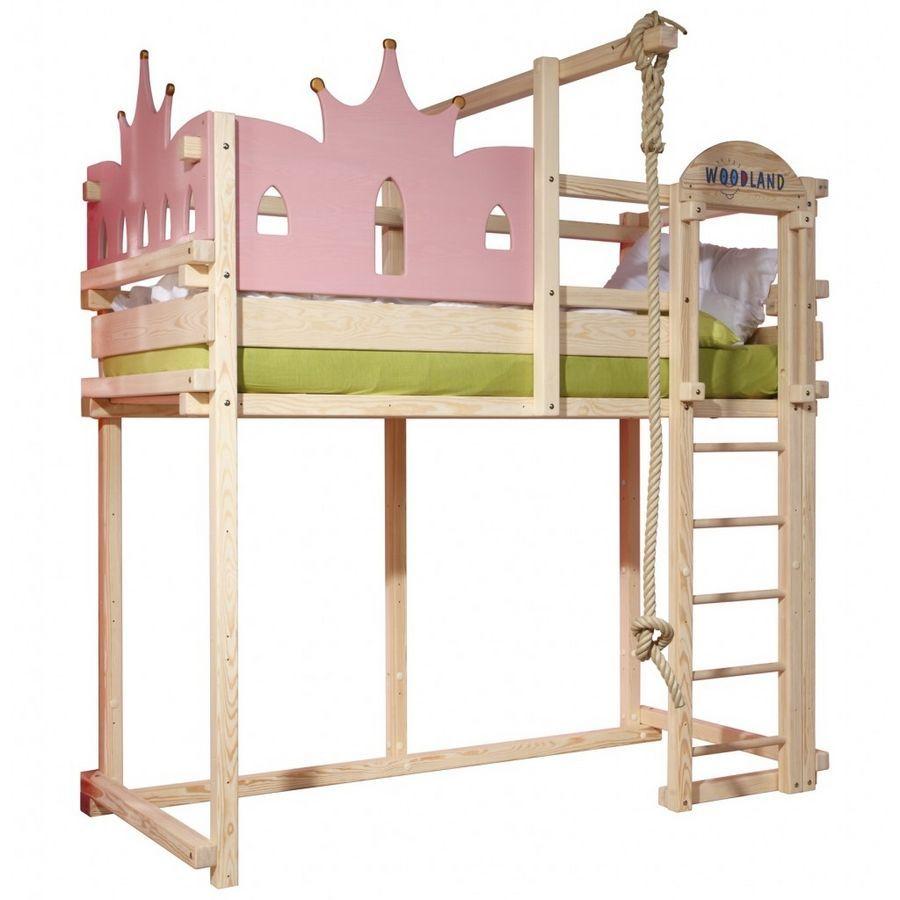 kinderbett m dchen prinzessin lilly lit ch teau princesse woodland meubles pour enfants. Black Bedroom Furniture Sets. Home Design Ideas