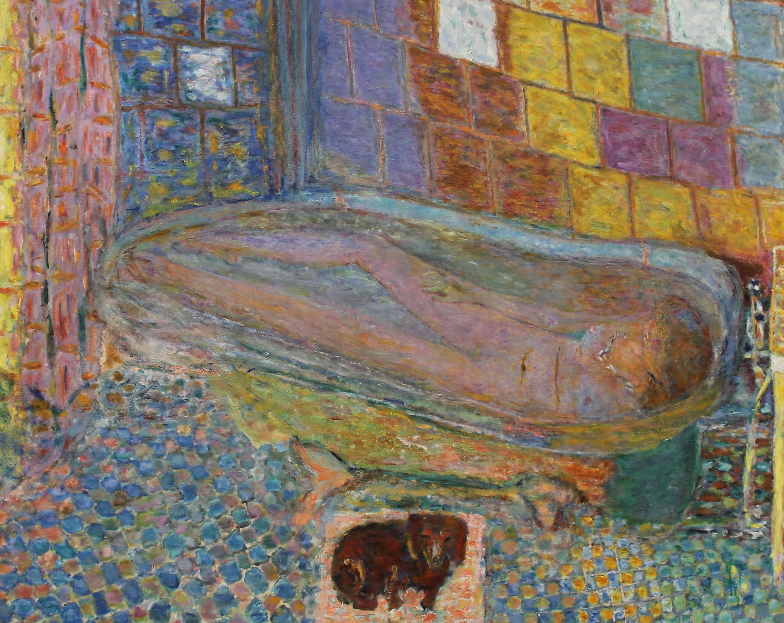 This may be my favorite painting.  I love the beautiful colors, the shapes, the little dachsund waiting at the base of the bathtub.  Carnegie Museum, Pgh