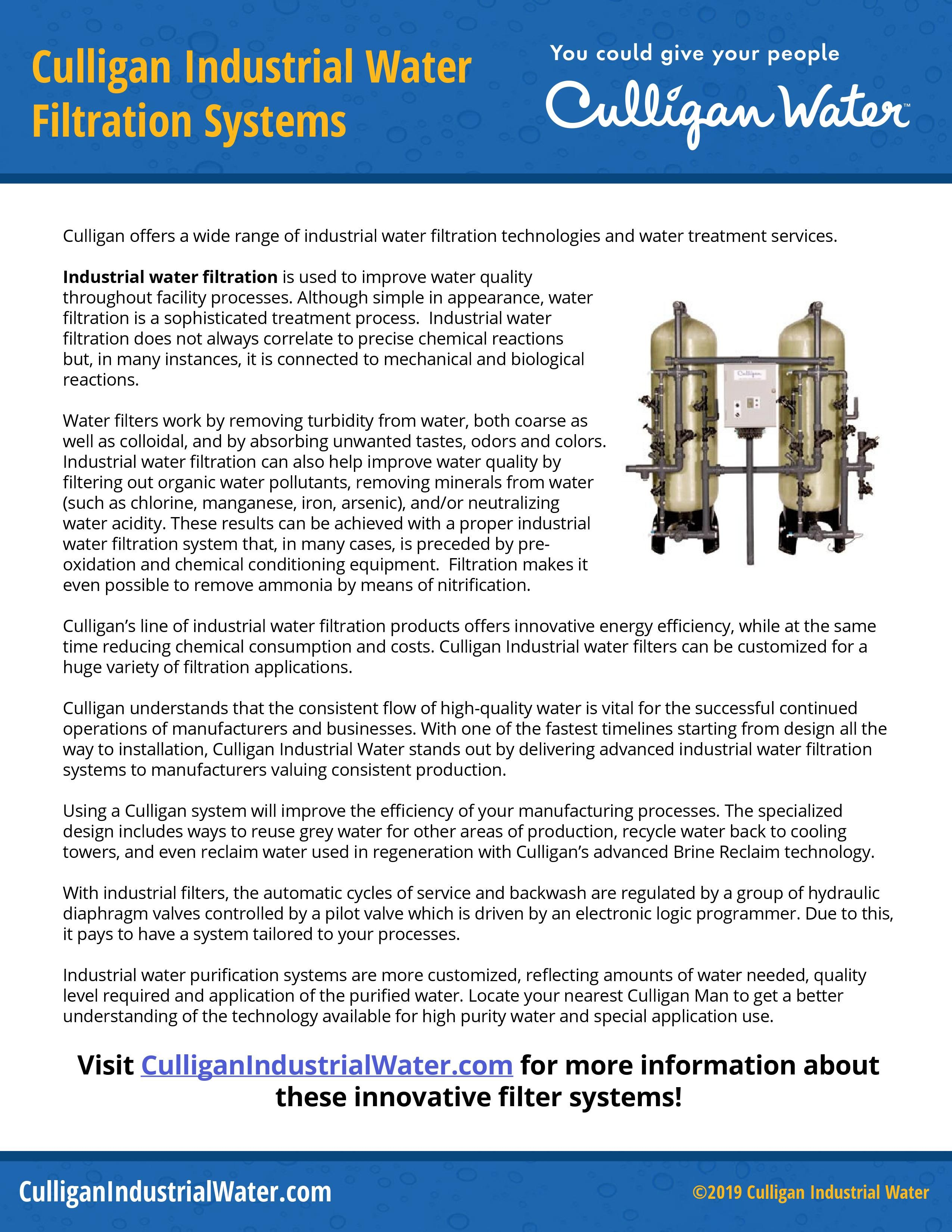 Industrial Water Filtration Water Treatment System Water