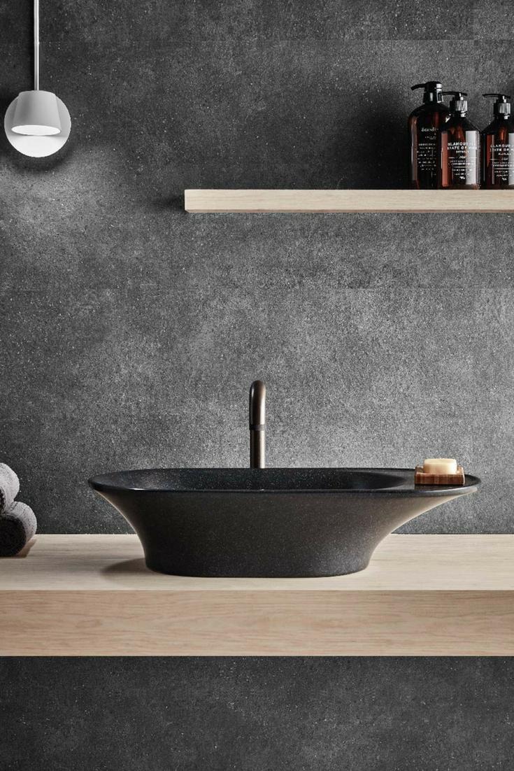 Opus Countertop Basin Black Bathroom Sink Claybrook Interiors