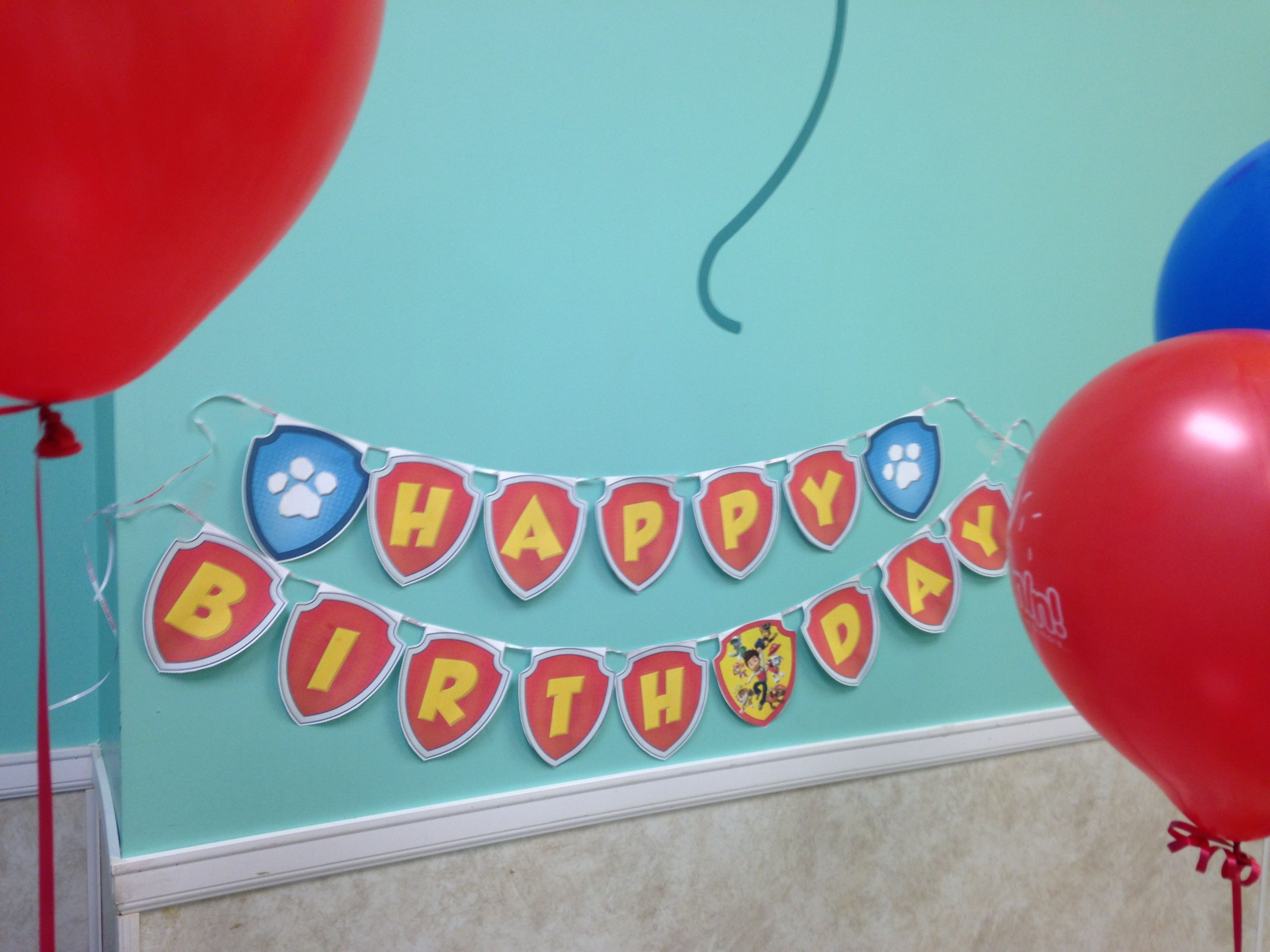 DIY Paw Patrol Happy Birthday BannerDownload Print Cut The Template From