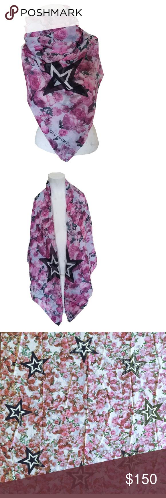 star print scarf - Pink & Purple Givenchy P49cBy