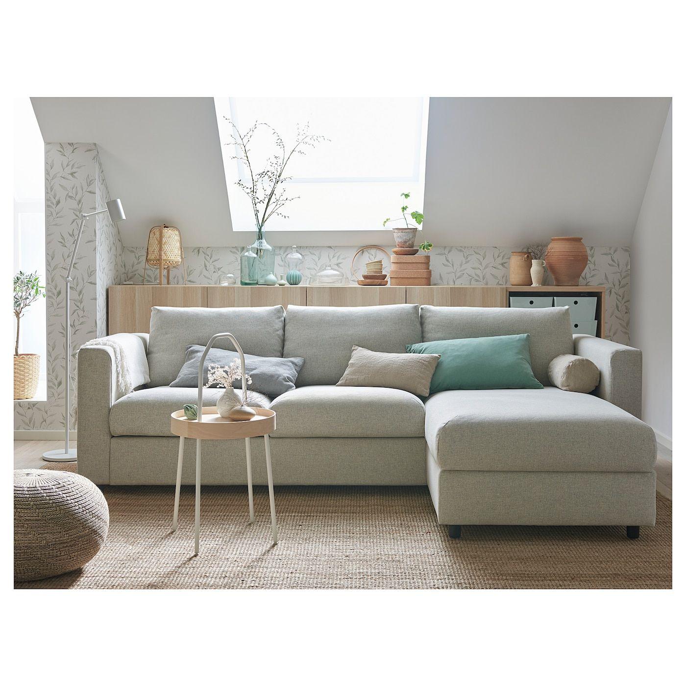 Vimle 3er Bettsofa Mit Recamiere Gunnared Beige Ikea Deutschland In 2020 Bettsofa Recamiere Sofa