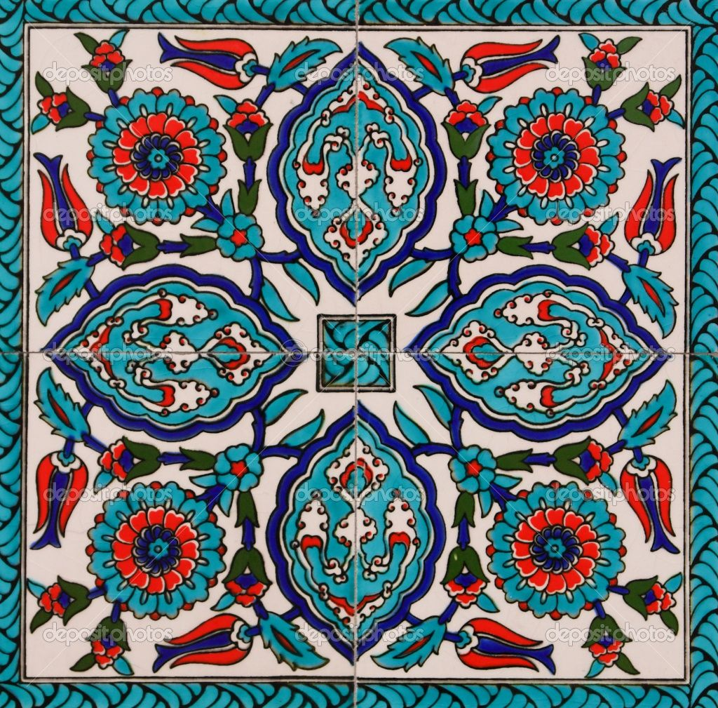 I Love The Color Palette On Turkish Tiles Definitely Inspires Many Ideas