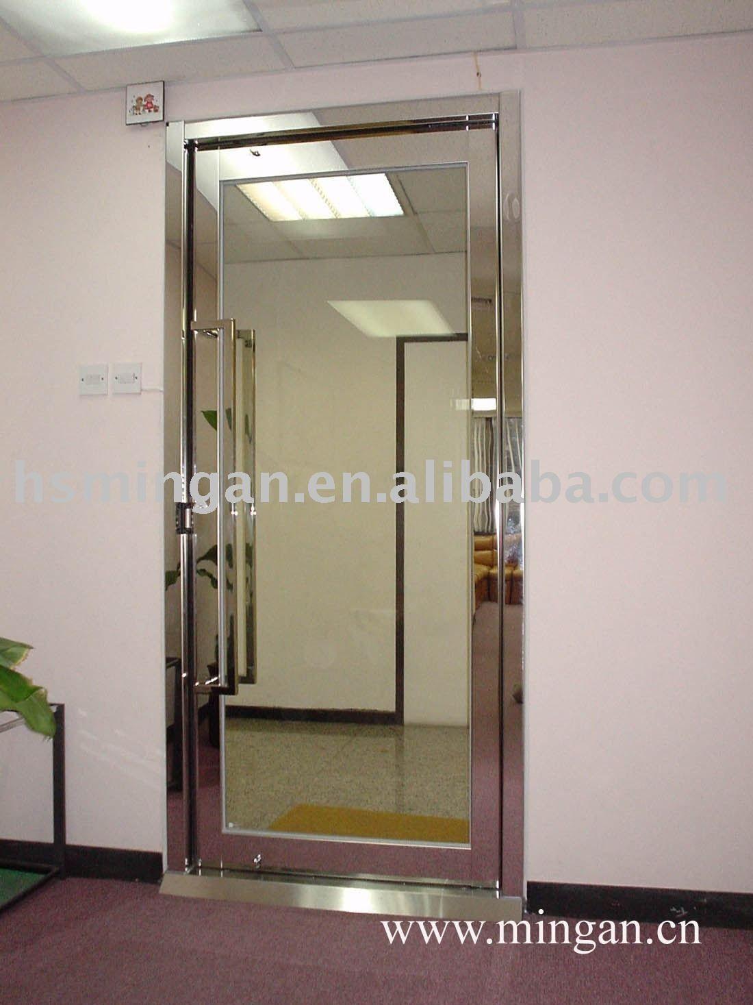 Fireproof sliding glass door glass door bookcase with