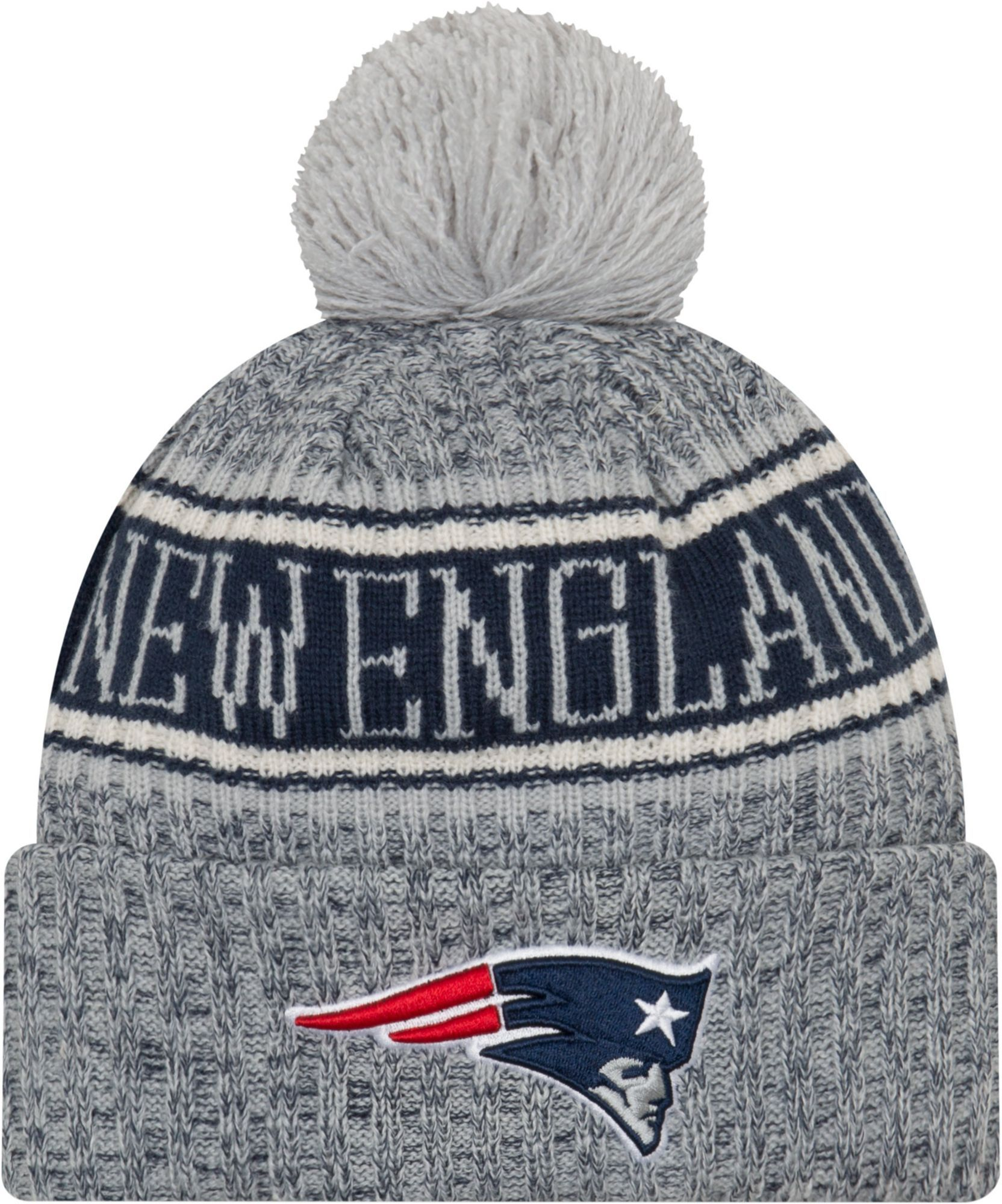 76754521037b20 New Era Men's New England Sideline Cold Weather Reverse White Sport Knit