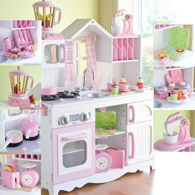As Cozy As Home Play Kitchen- Complete Set for kids I WANT THIS FOR LEENA!