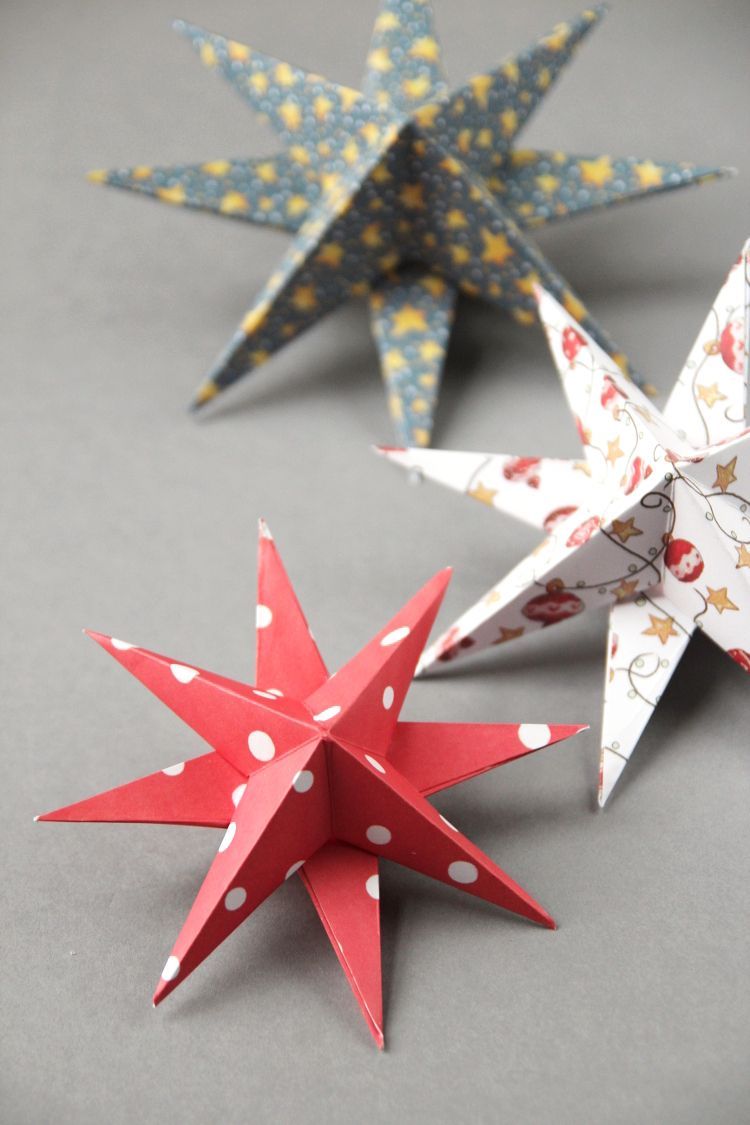 3d Paper Star Christmas Decorations Gathering Beauty Paper Christmas Ornaments Christmas Paper Crafts Paper Christmas Decorations