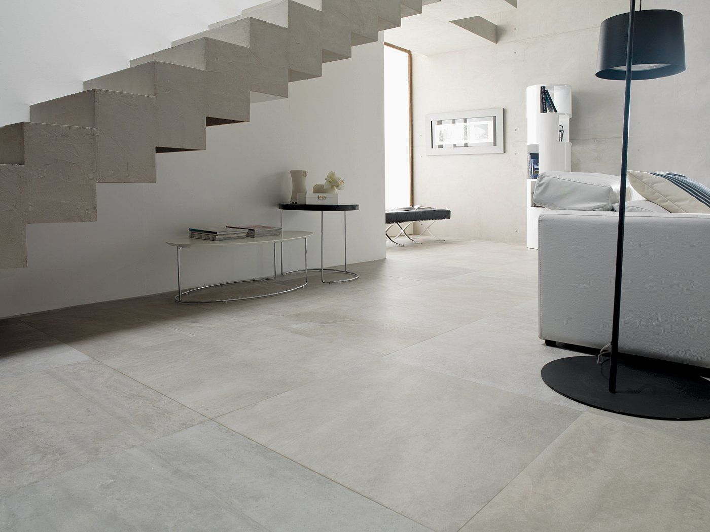 porcelanosa rodano acero | raw concrete look tile | available at