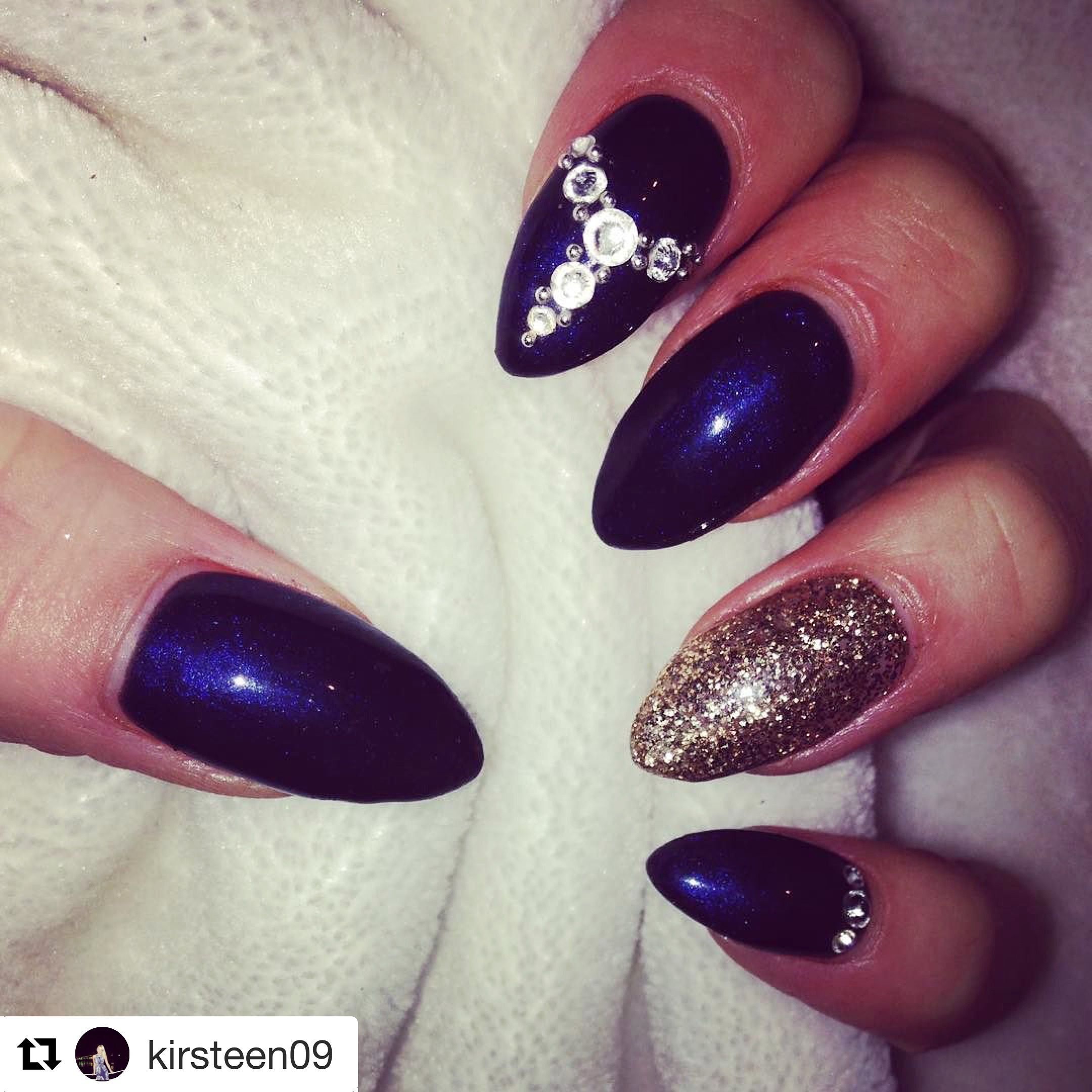 Calgel nails nail art nail design navy nails pointy swarovski calgel nails nail art nail design navy nails pointy swarovski prinsesfo Gallery