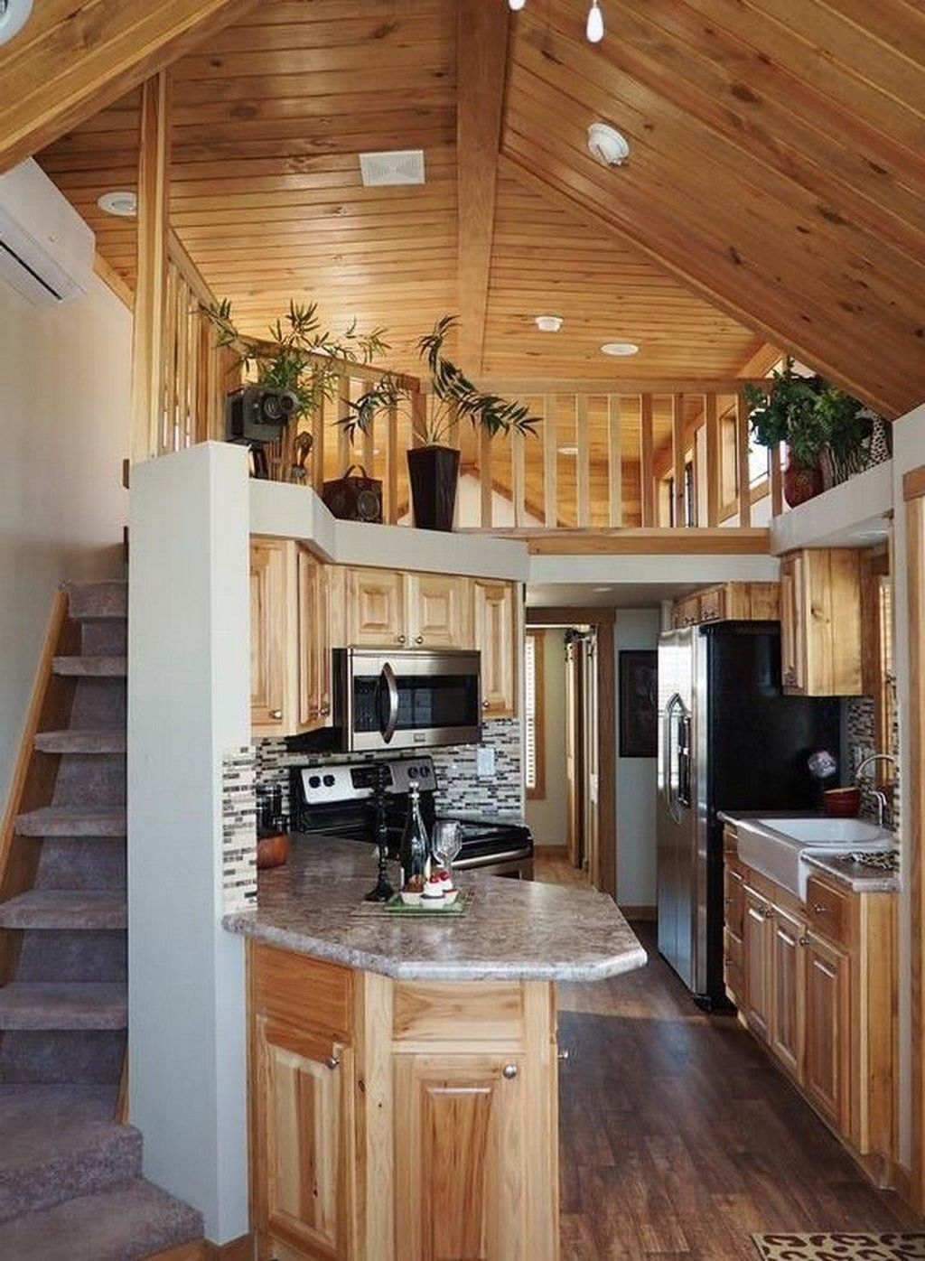 34 Fabulous Tiny House Design Ideas You Never Seen Before Small House Kitchen Design Small House Interior Tiny House Interior Design