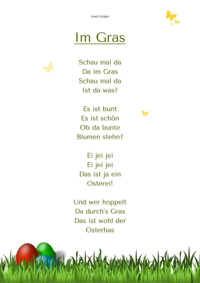 Ostergedicht auch für Kleinere www.kitakiste.jimdo.com   Ovi német ...
