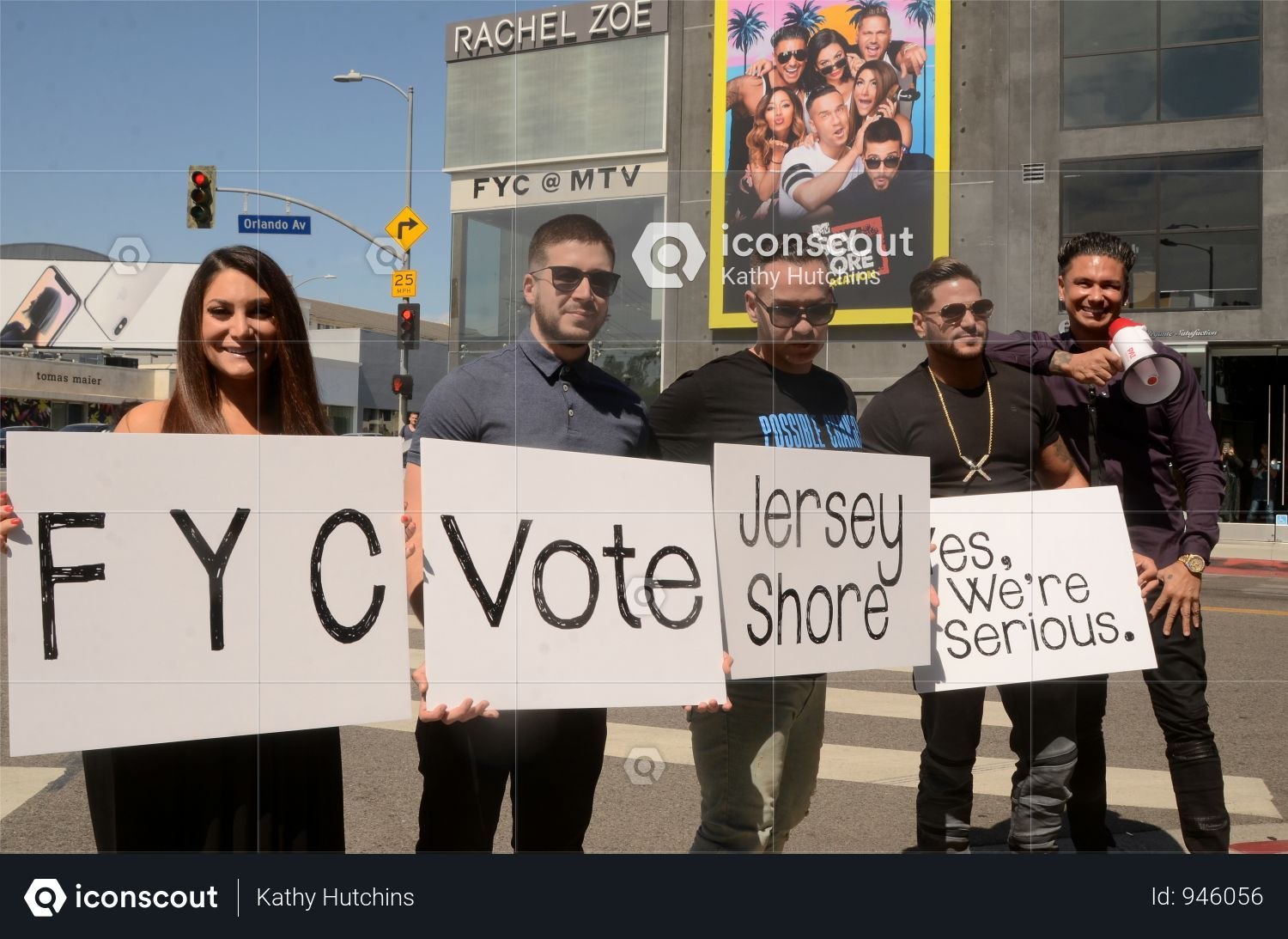 Deena Nicole Cortese Vinny Guadagnino Mike The Situation Ronnie Ortiz Magro And Pauly D At Usa Jersey Shore Fyc Hollywood Photo Jersey Shore West Hollywood