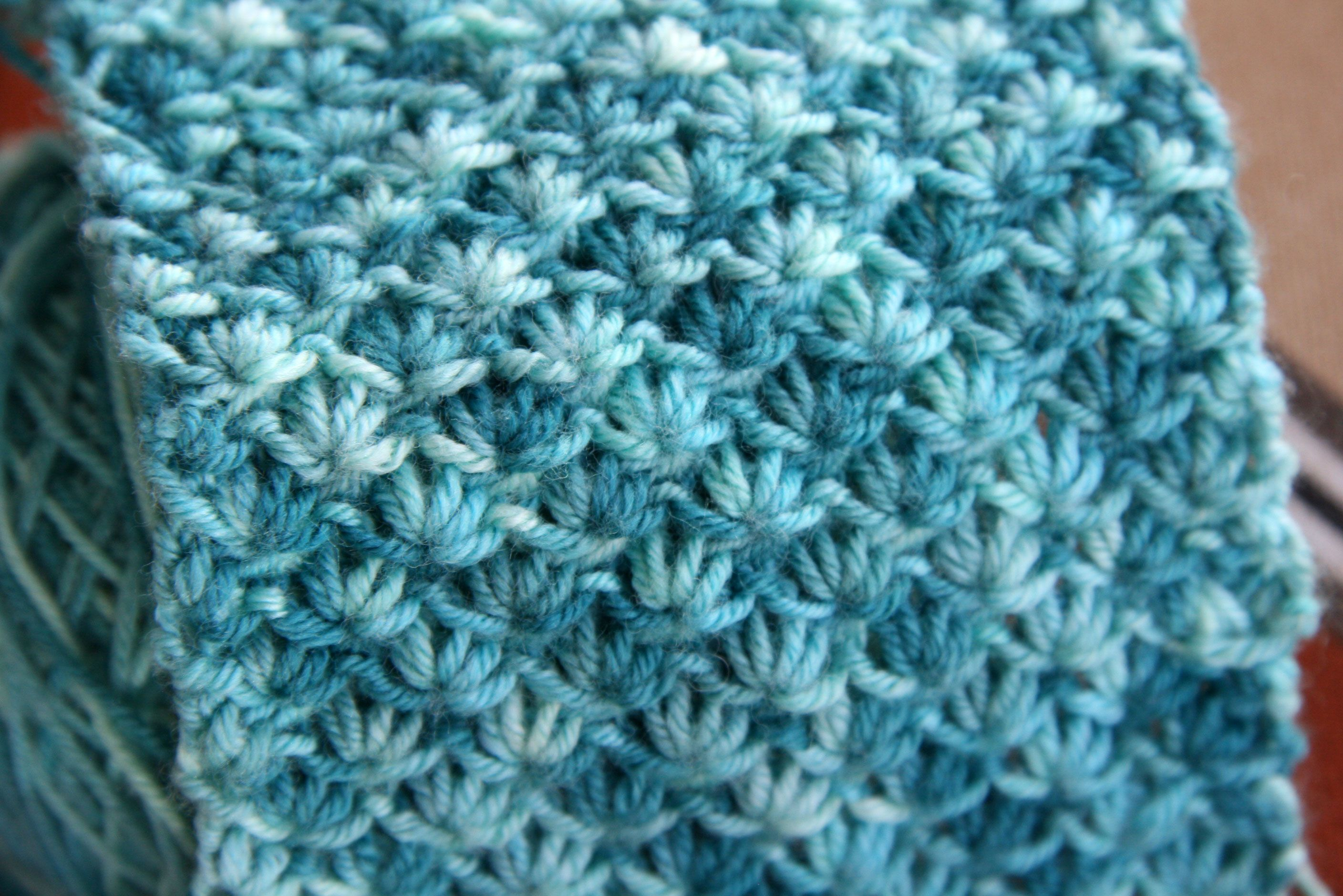 Lotus stitch and a bunny of the knitted variety lotus flower lotus flower stitch beautiful especially with the variegated yarn izmirmasajfo Gallery