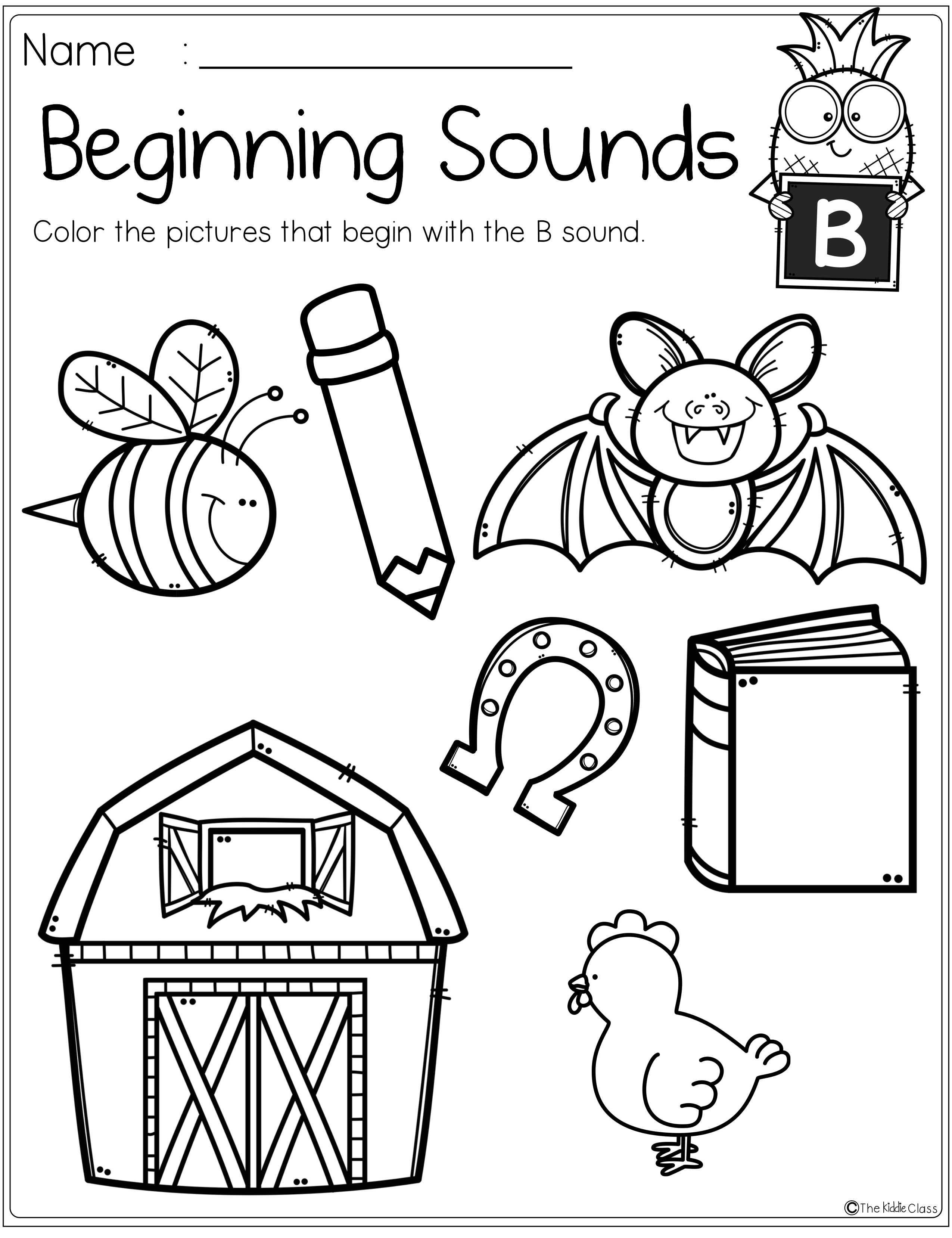 Alphabet Beginning Sounds Printables Beginning Sounds Worksheets Kindergarten Phonics Worksheets Beginning Sounds [ 3315 x 2550 Pixel ]
