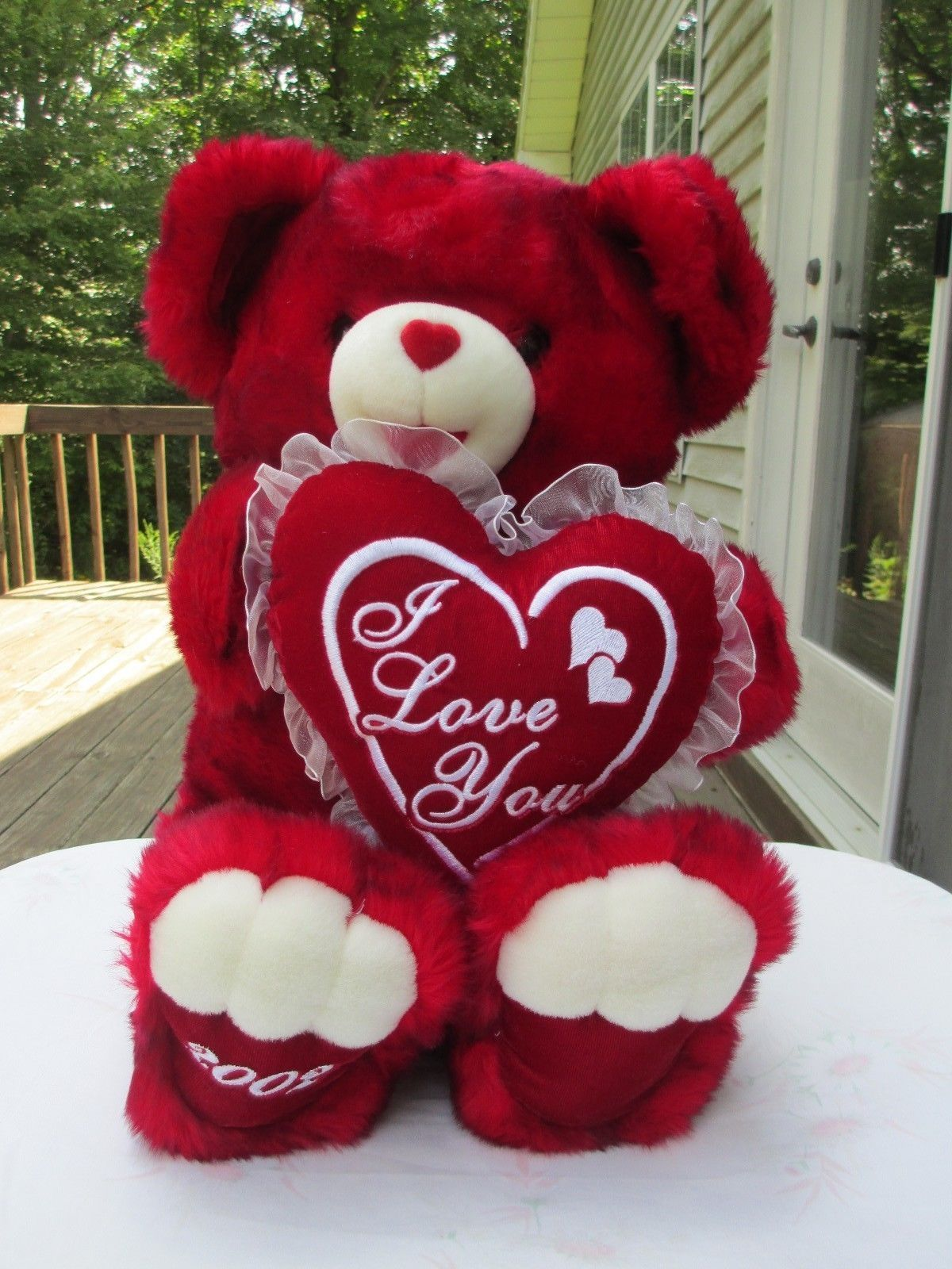 Pin By Inspired Creations On Hearts N More Valentine S Made Easy Valentines Day Bears Red Teddy Bear Valentines Day Teddy Bear