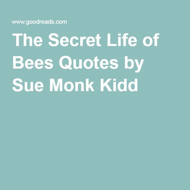 Secret Life Of Bees Quotes Beauteous The Secret Life Of Bees Quotessue Monk Kidd  Quotes