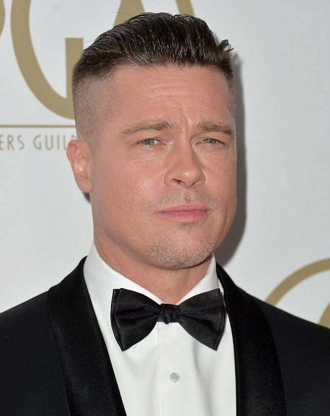 Slicked Back Undercut , Brad Pitt