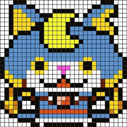 アイロンビーズ図案(ブシニャン)1.jpg 411×411ピクセル: