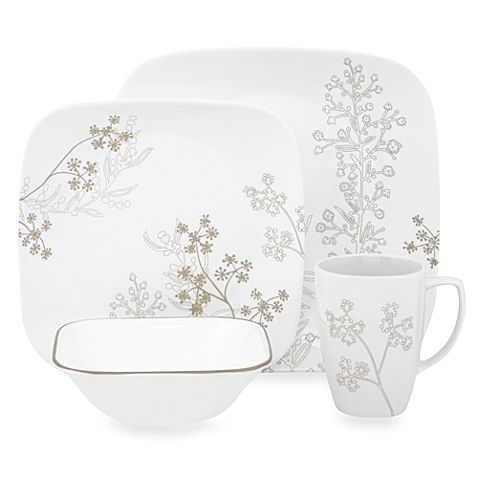 Buy Corelle® Square™ Shadow Dance Dinnerware Set from at Bed Bath u0026 Beyond. The calmness of an open meadow has inspired the contemporary silhouette pattern ...  sc 1 st  Pinterest & The calmness of an open meadow has inspired the contemporary ...