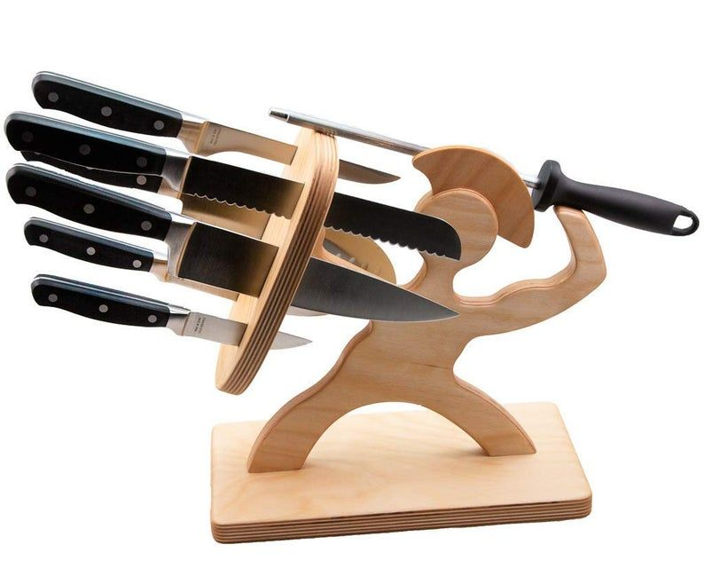 Spartan Knife Block- Baltic Birch Edition- Now Available with or Without Knives