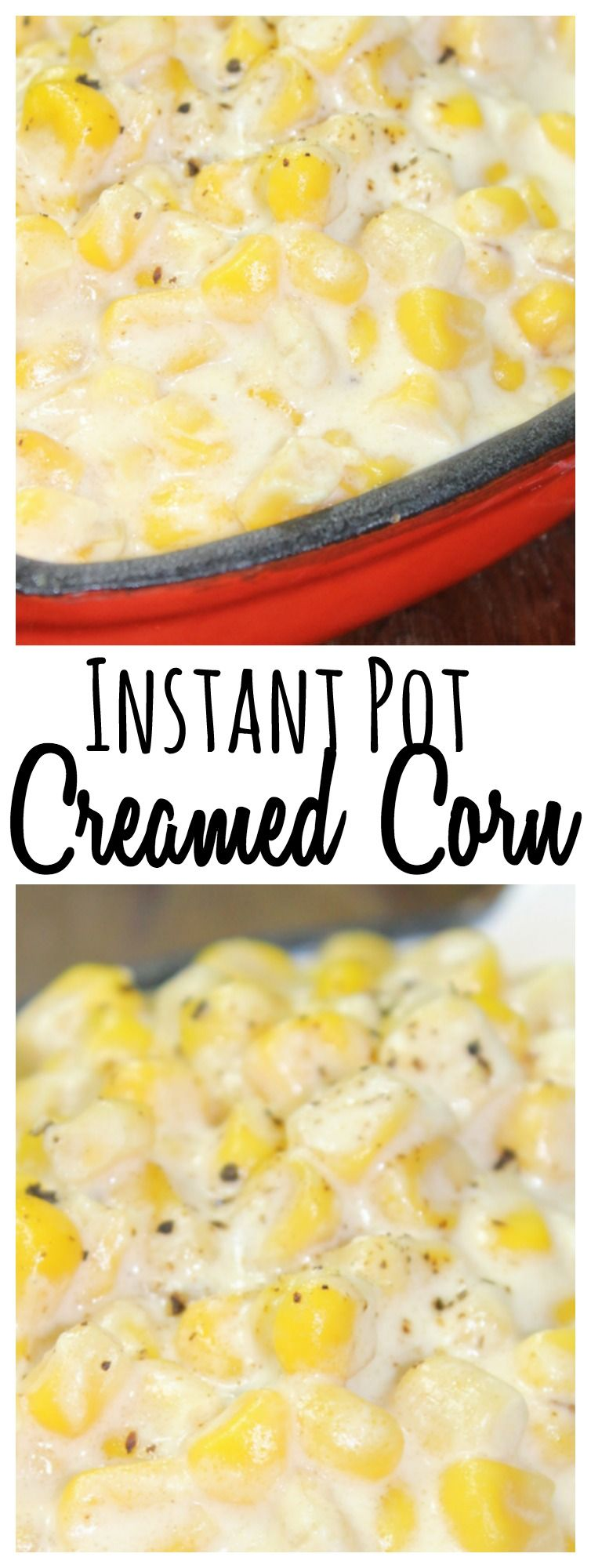 Cream corn only takes a few minutes to cook up in the Instant Pot!