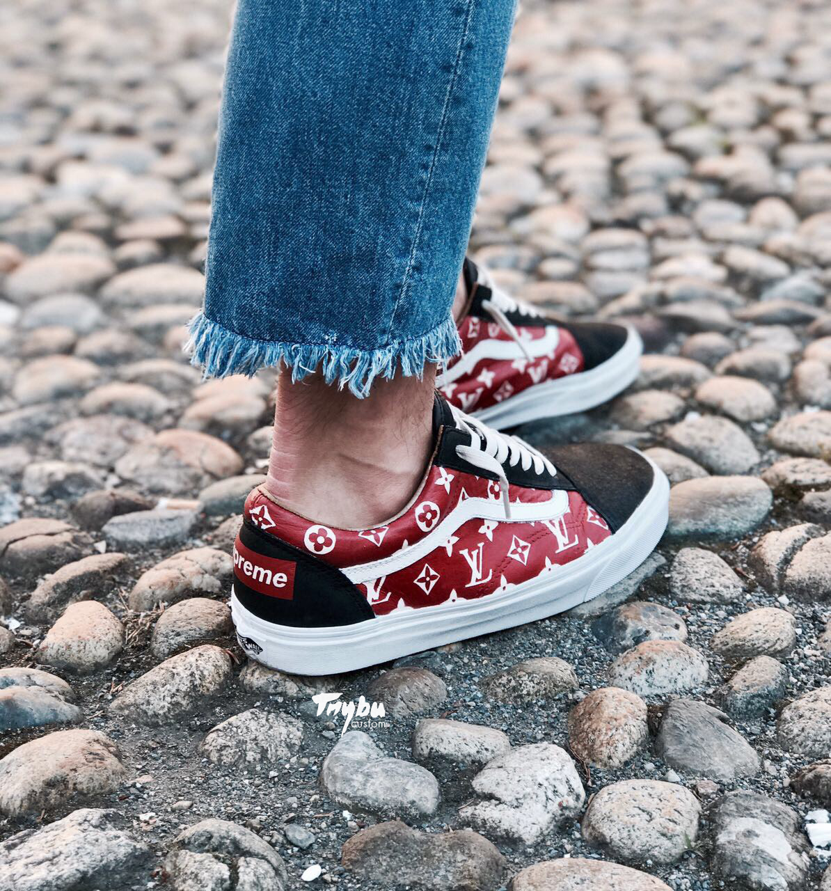 Vans Old Skool Louis Vuitton X Supreme Custom