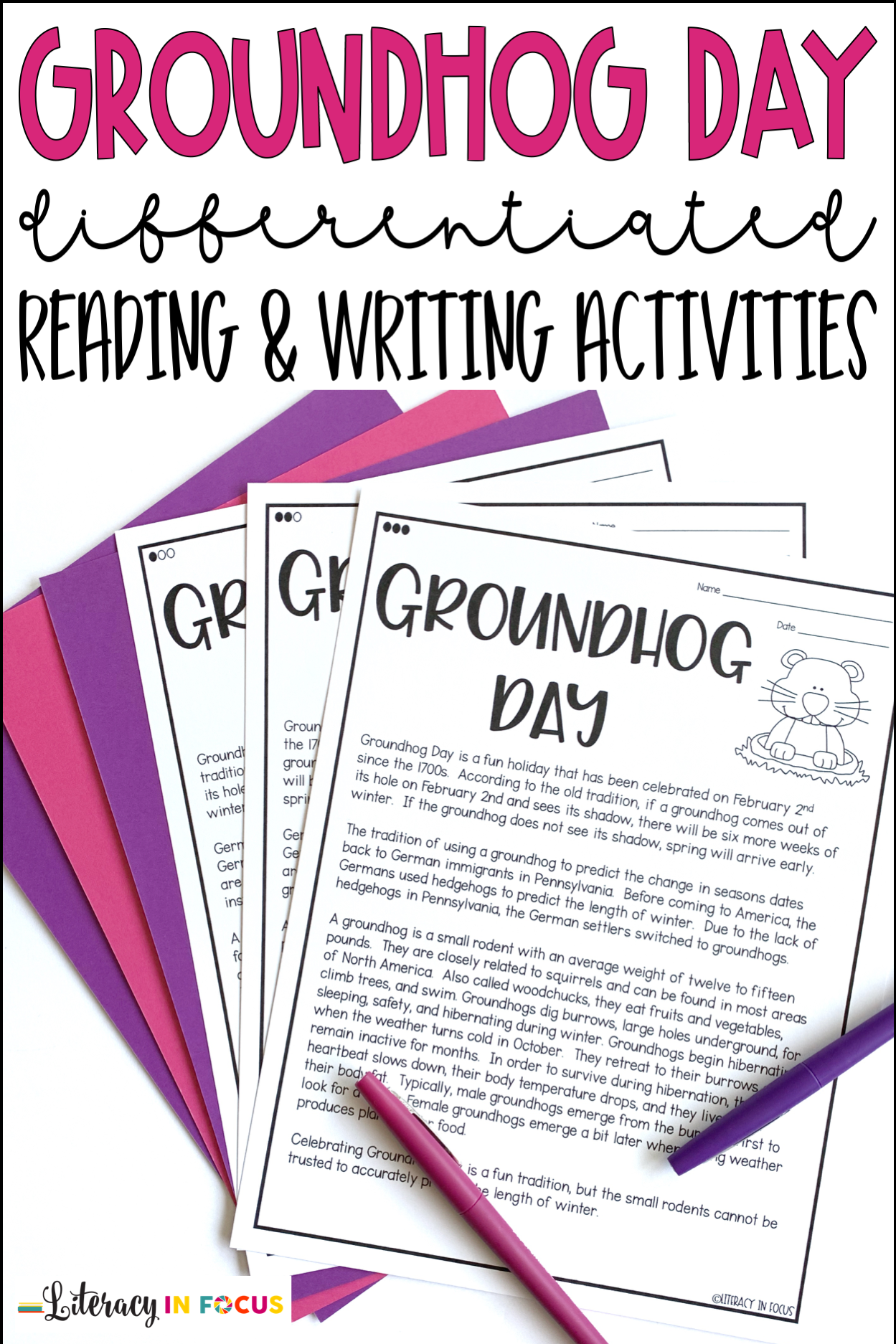 Groundhog Day Reading And Writing Activities