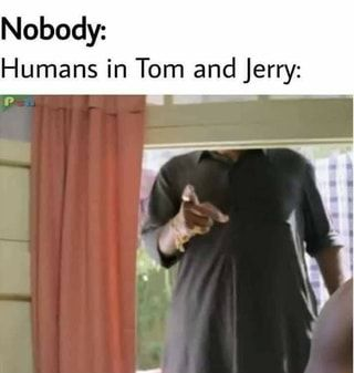 Nobody: Humans in Tom and Jerry: P - )