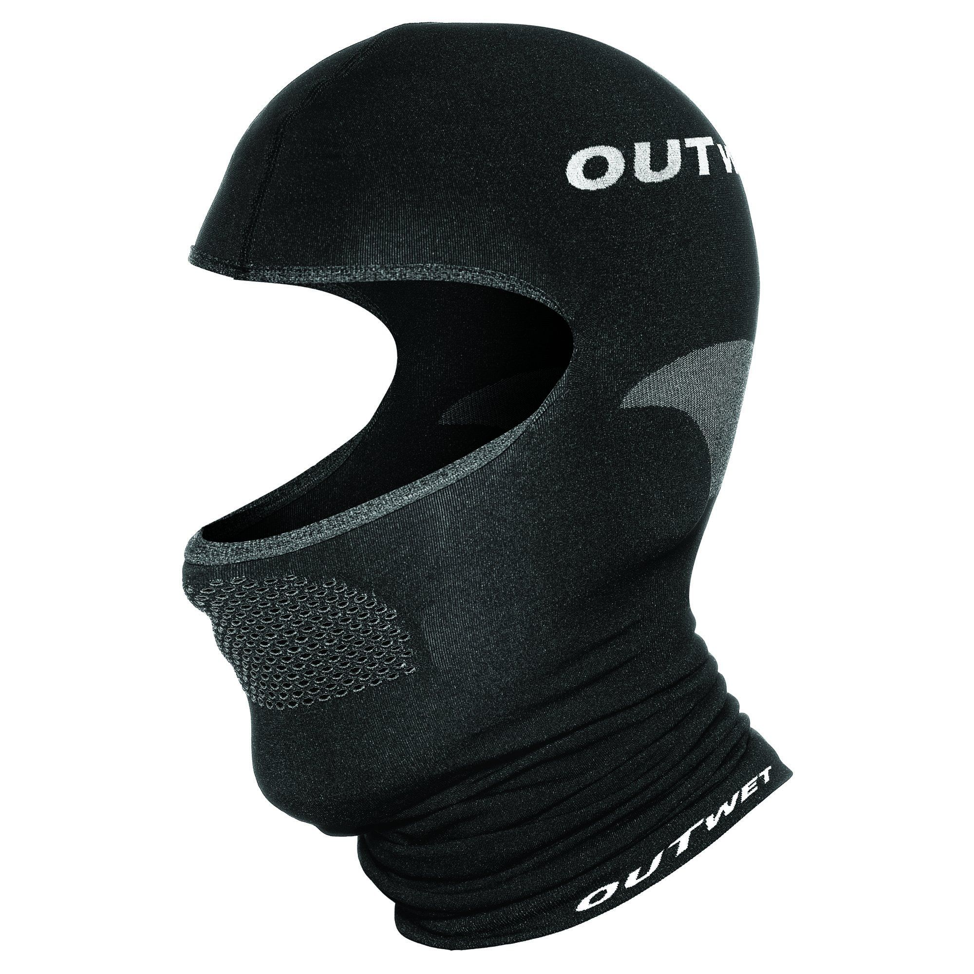UH1 Balaclava Cycling Cap in Black Made in Italy by Outwet