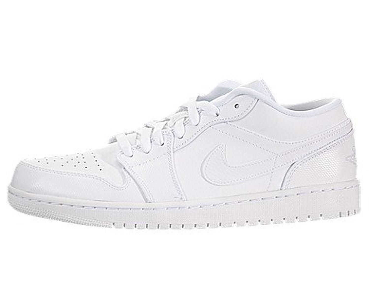 the latest 1a347 86fd2 Nike Jordan Men s Air Jordan 1 Low White White White Basketball Shoe 12 Men  US - Brought to you by Avarsha.com
