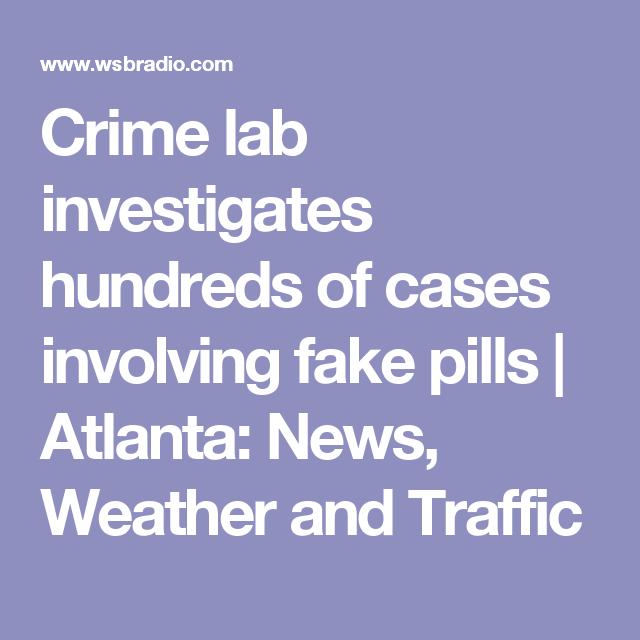 Crime lab investigates hundreds of cases involving fake