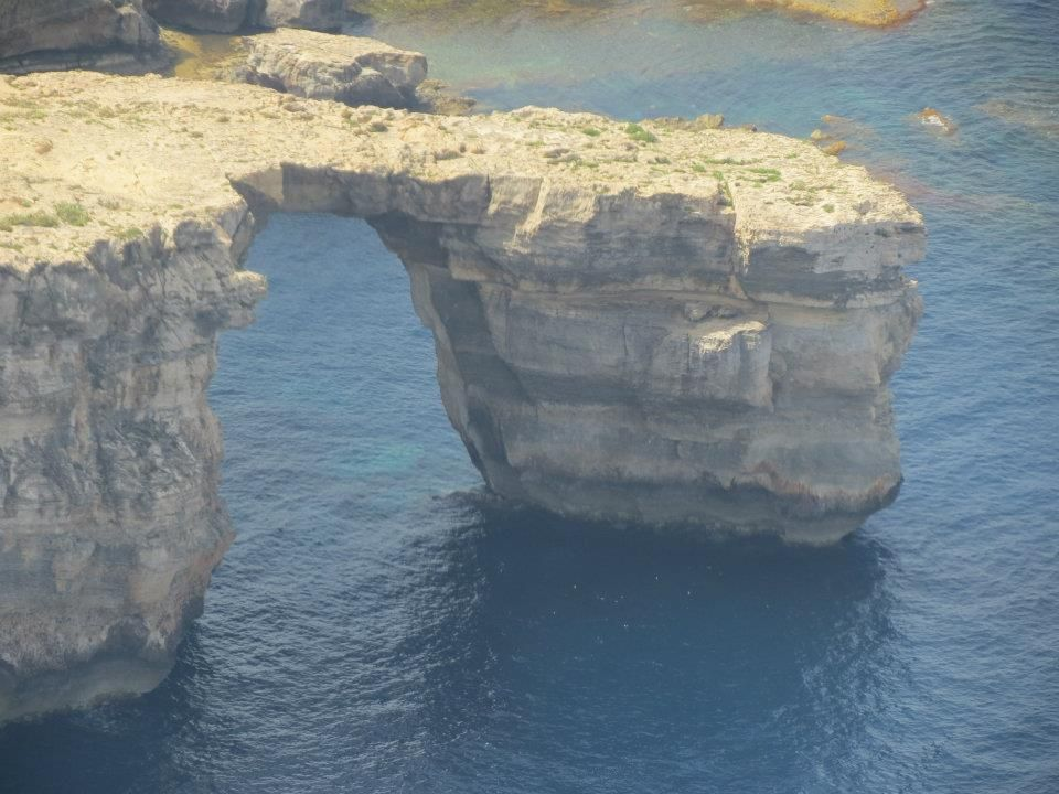 This is #Malta through the eyes of a Magician. Stunning shots by Brian Role'. Aerial view of the #Azure Window in Dwejra #Gozo #travel © Brian Role'