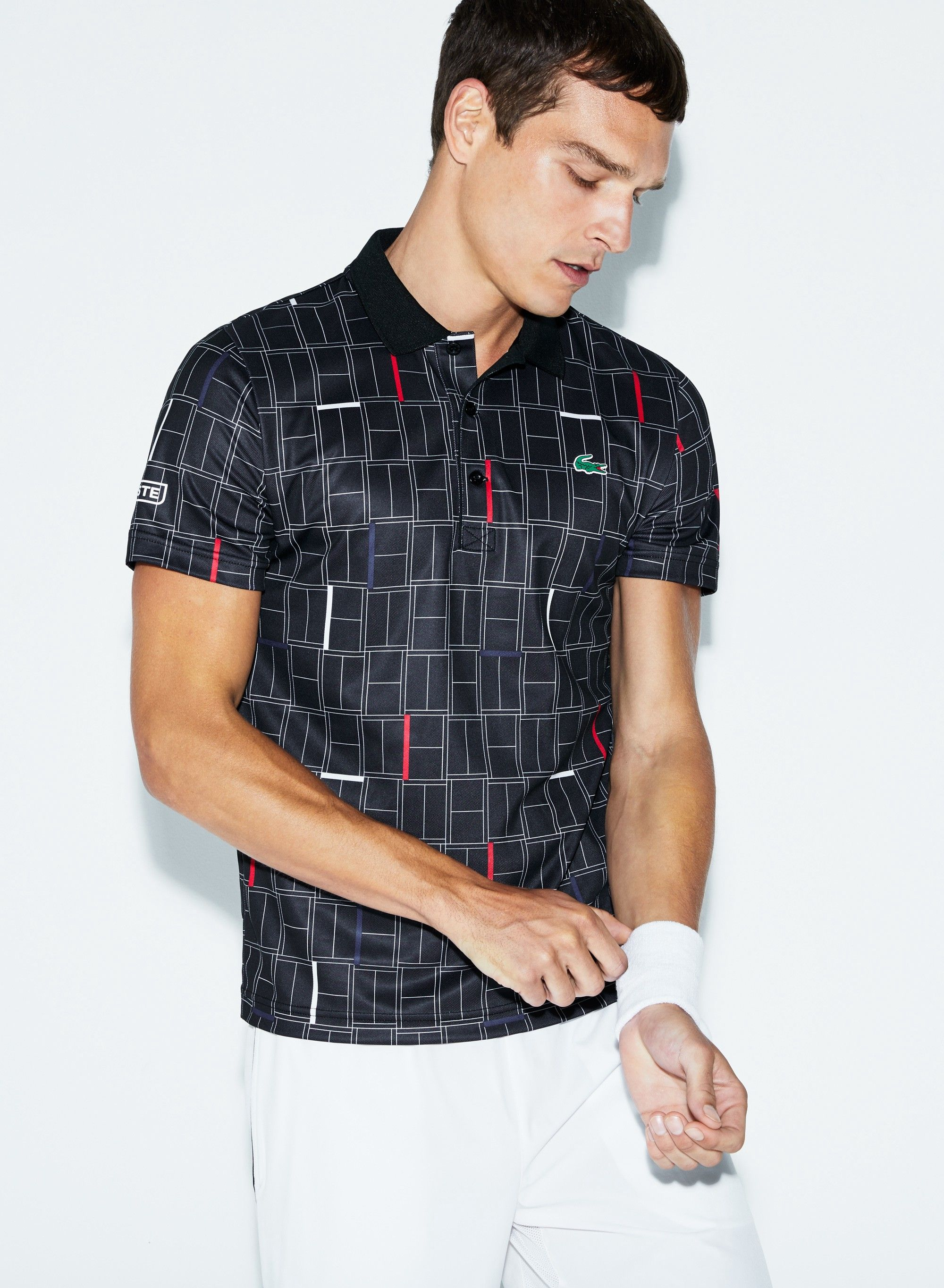 1883822584 Lacoste Men's Sport Print Piqué Tennis Polo - S 3 Green | Products ...