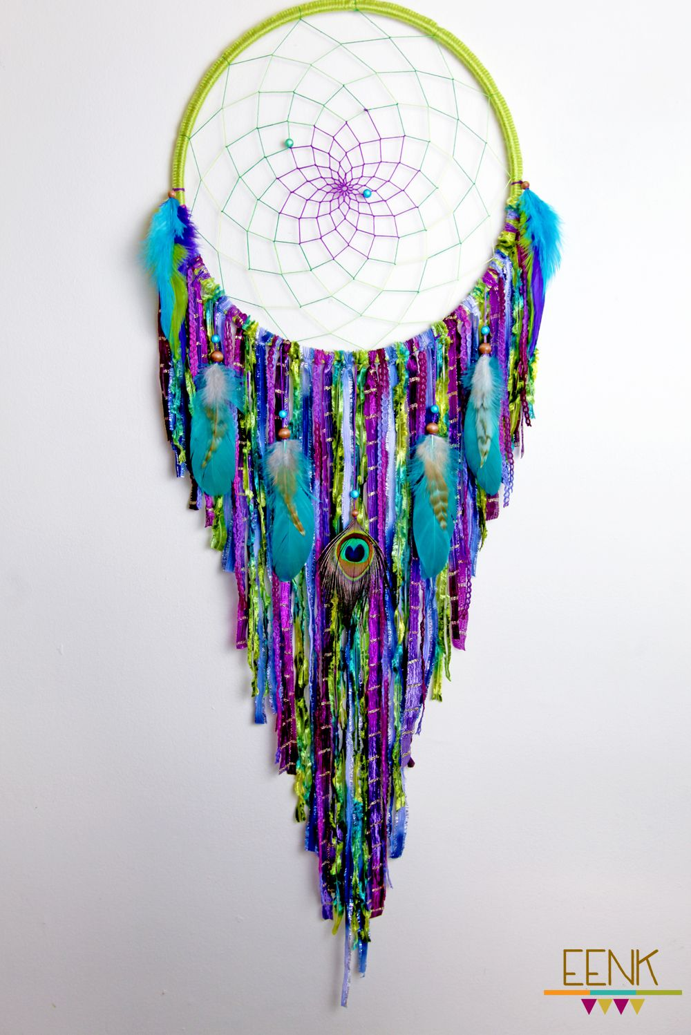 Peacock dreamcatcher by eenk on etsy for Where can i buy peacock feathers craft store