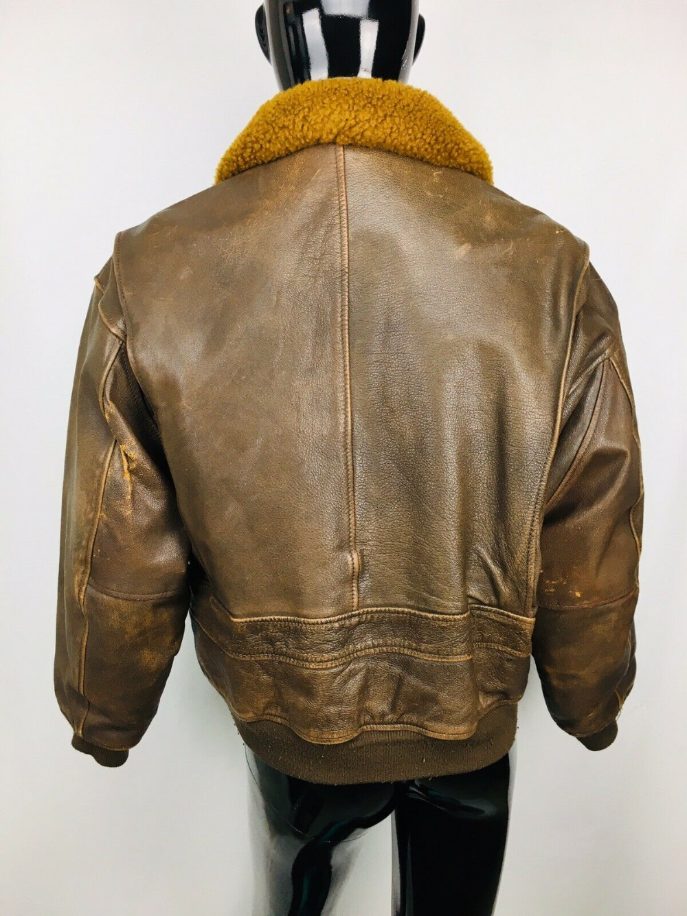 Details about Authentic VTG Avirex Leather Flight Bomber