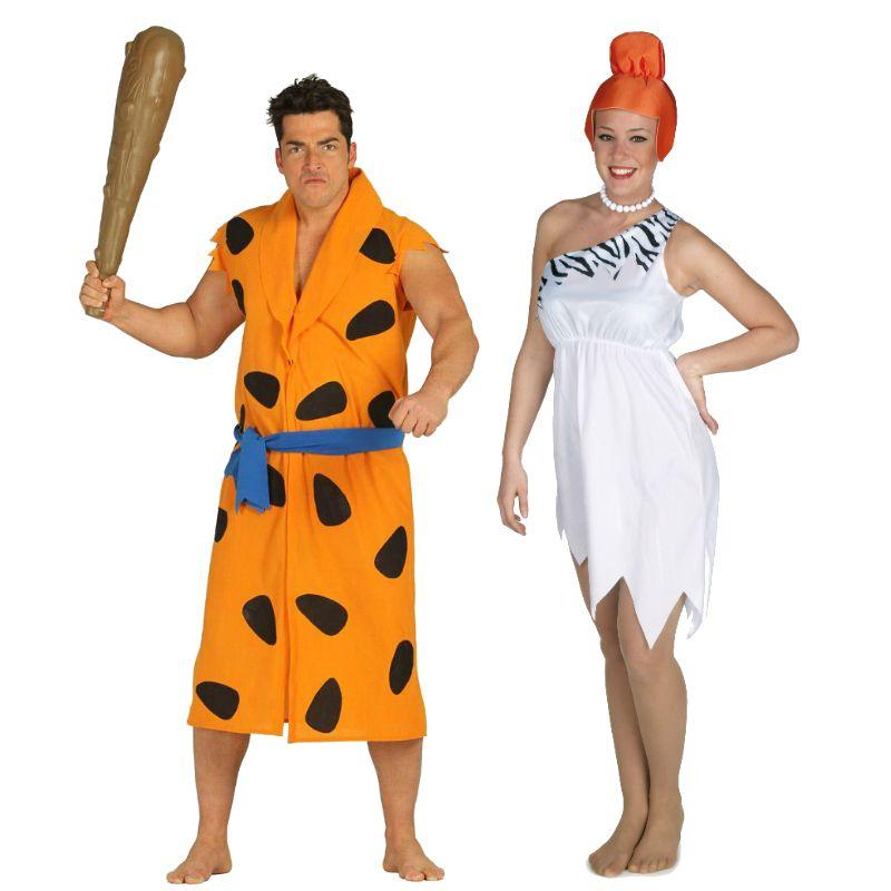 Pareja disfraces de familia picapiedra parejas disfraces - Disfraces caseros adulto ...
