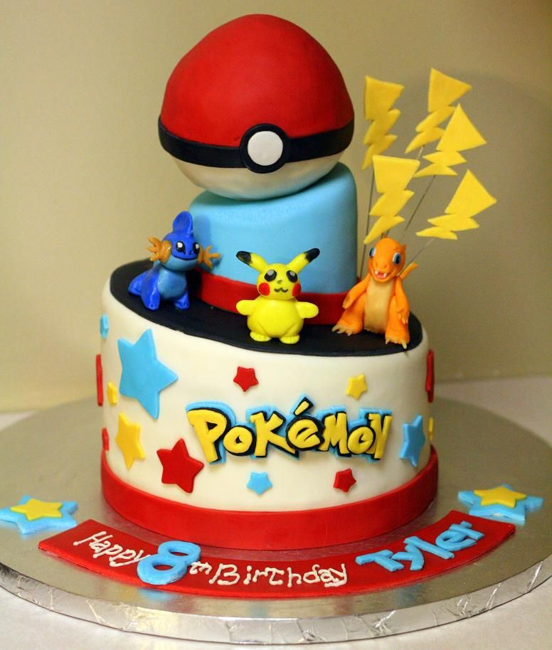 Pokemon Birthday Cakes 2 Tiered Cake From And Pans
