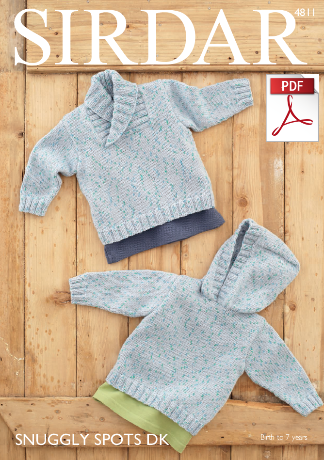 Sirdar 4811 - Boys Sweaters in Snuggly Spots DK Pattern ...