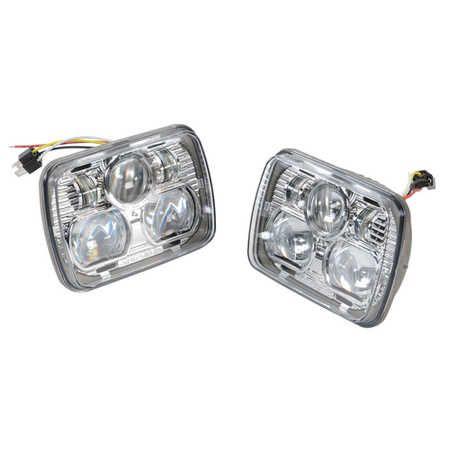 Truck Lite 55003 5 X 7 Rectangle Led Headlight Kit By Rigid
