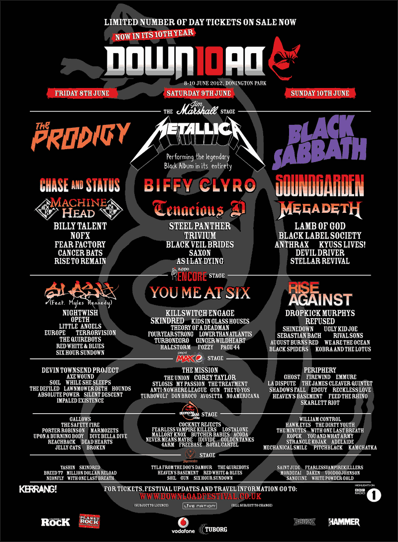Download Festival 2012 cant wait till tomorrow! | Gigs I've