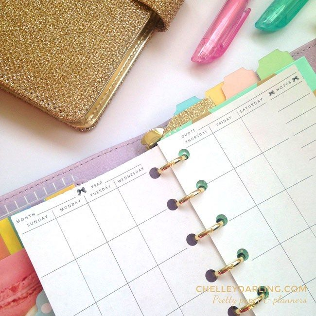 ♡ Free Planner Printable: Month On Two Pages in EVERY size! ♡