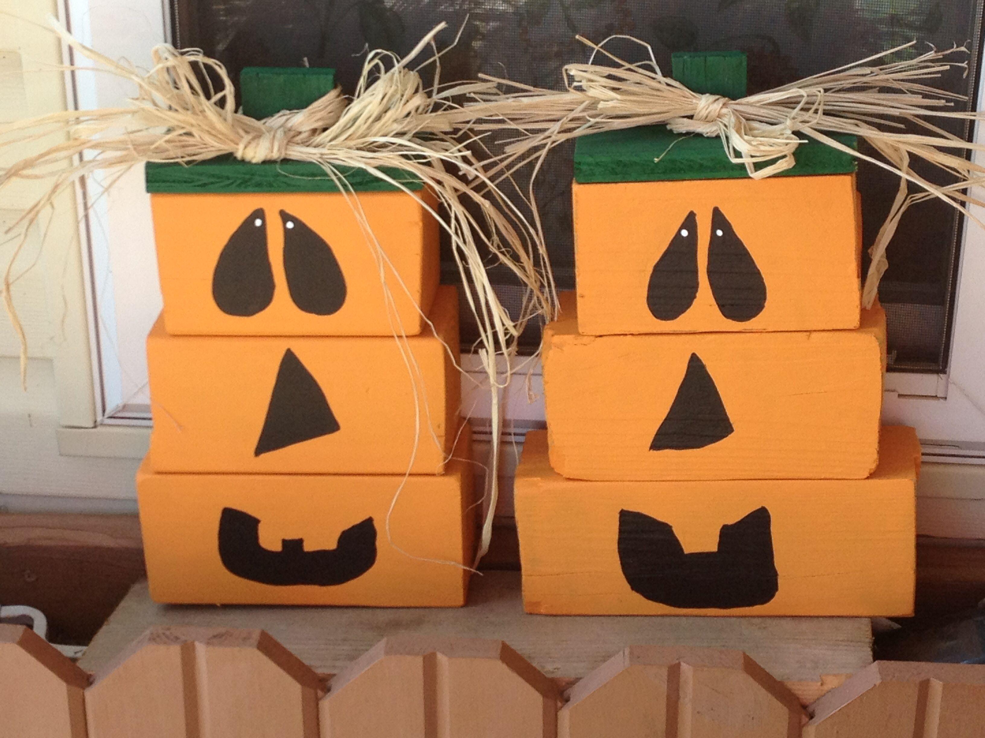 Wood Pumpkin Crafts