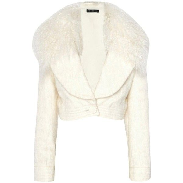 Pre-owned Fur Coat (1.635 RON) ❤ liked on Polyvore featuring outerwear, coats, none, white coat, fur coat and white fur coat
