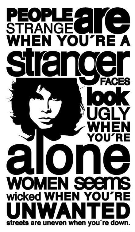 """Picture Poster Music Word Art The Doors /""""People are Strange/"""" Framed Print"""