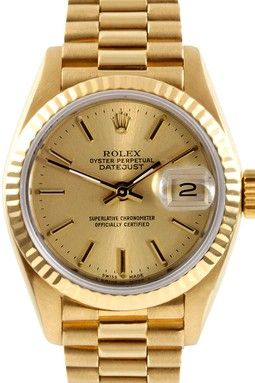 Rolex Women's 18K Yellow Gold Presidential Watch