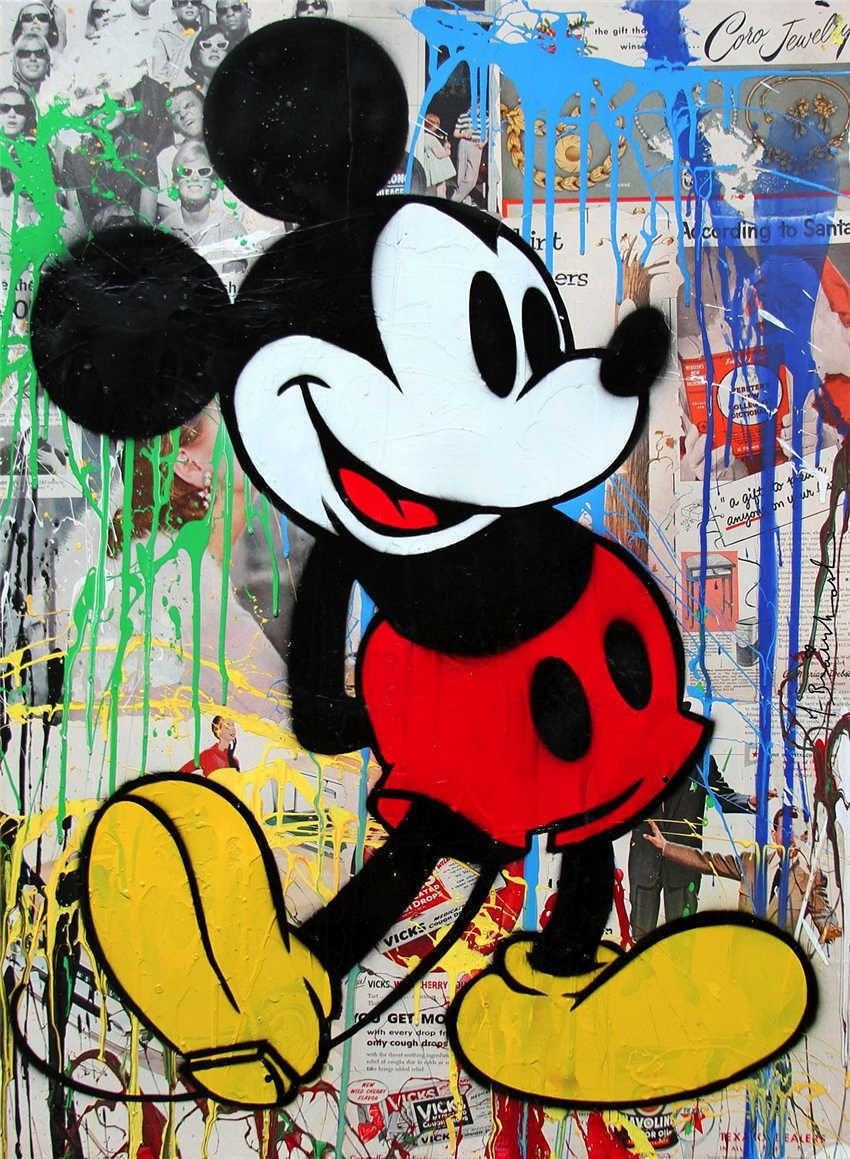 Mr Brainwash Oil Painting on Canvas Mickey Mouse by ...